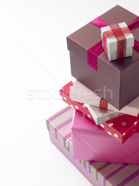 Stack Of Pink Wrapped Presents Stock photo © monkey_business