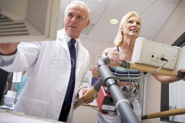 Doctor With Patient During Health Check Stock photo © monkey_business