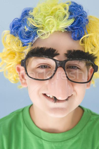 Photo stock: Clown · perruque · faux · nez