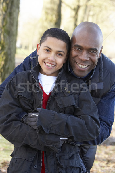 Father And Son On Autumn Walk Stock photo © monkey_business