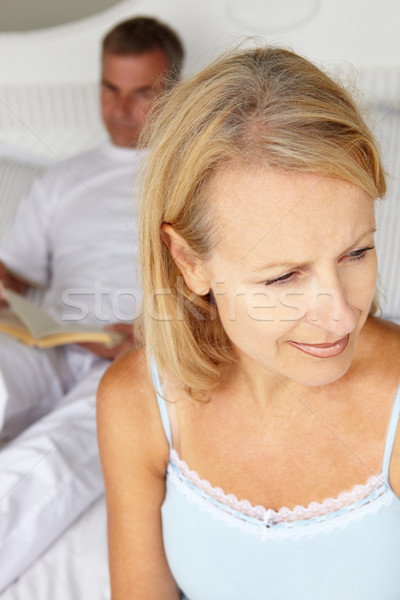 Mid age couple in bedroom Stock photo © monkey_business