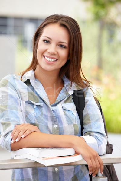 Retrato mulher jovem ao ar livre mulher menina saco Foto stock © monkey_business