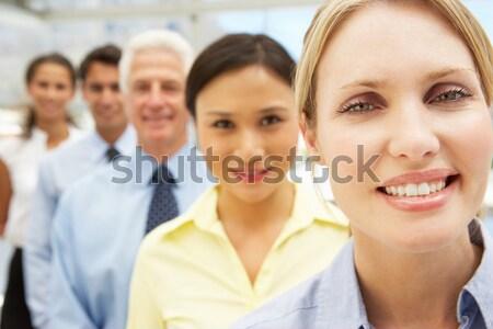 Mista gruppo uomini d'affari business donne lavoro Foto d'archivio © monkey_business