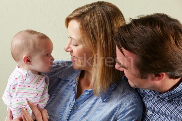 Сток-фото: счастливая · семья · ребенка · женщину · девушки · матери