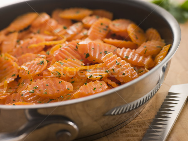 Vichy Carrots in a Saute Pan Stock photo © monkey_business