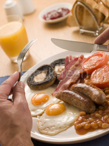 Eating a Full English Breakfast Stock photo © monkey_business