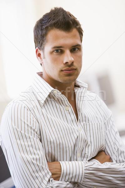 Man permanente computerruimte kantoor werknemer mannelijke Stockfoto © monkey_business