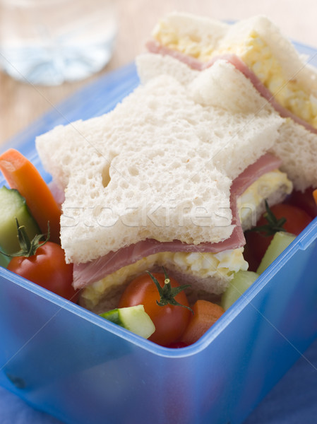 Star Shaped Egg Mayonnaise and Ham Sandwich with Crudities Stock photo © monkey_business