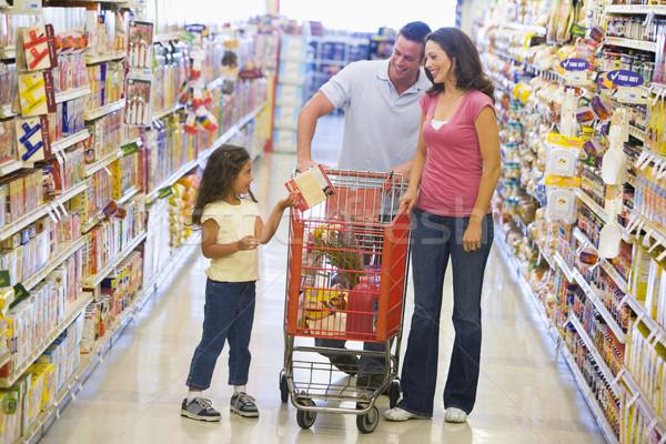 Foto d'archivio: Famiglia · shopping · supermercato · generi · alimentari · donna · ragazza