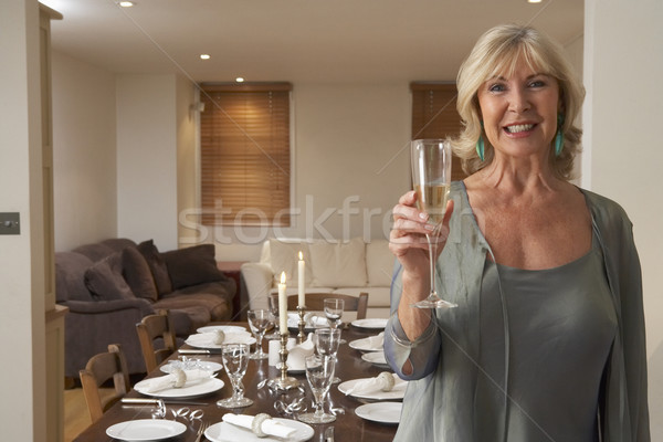Woman Throwing A Dinner Party Stock photo © monkey_business
