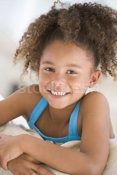 Foto d'archivio: Ritratto · giovane · ragazza · ragazza · bambini · bambino · home