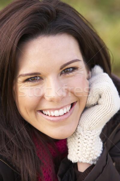 портрет улыбаясь счастливым зима холодно Сток-фото © monkey_business