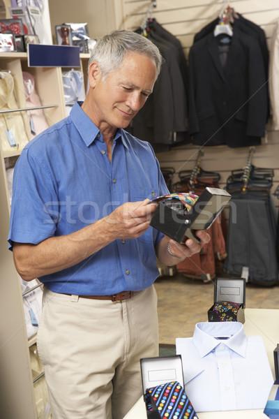 Stok fotoğraf: Erkek · müşteri · giyim · depolamak · çalışmak · portre
