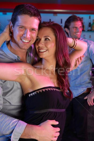 Pár szórakozás elfoglalt bár nő tánc Stock fotó © monkey_business