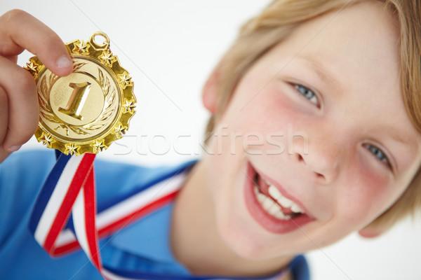 Medalie băiat aur Imagine de stoc © monkey_business