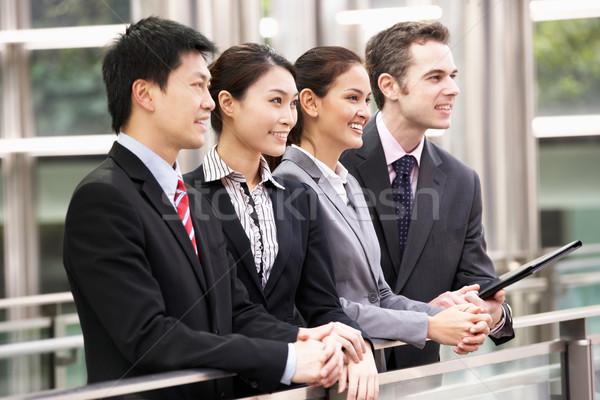 Vier Business Kollegen außerhalb Büro Mann Stock foto © monkey_business