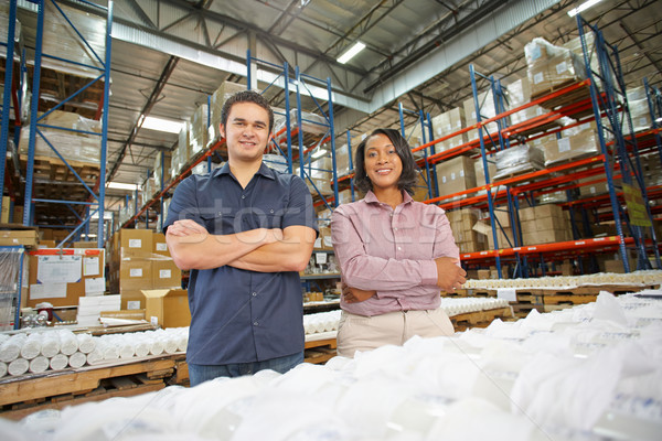 Portrait Of Factory Worker And Manager On Production Line Stock photo © monkey_business