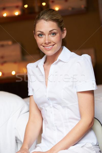 Portret vrouwelijke masseuse spa vrouw vrouwen Stockfoto © monkey_business