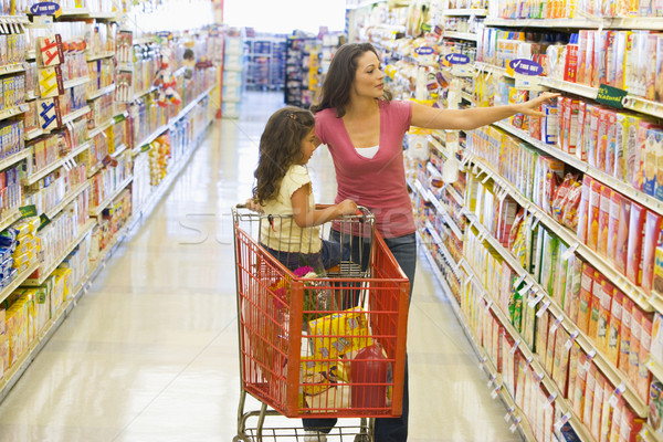 Mother and daughter shopping in supermarket Stock photo © monkey_business