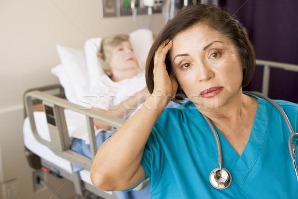Fuera médico habitación hospital enfermos Foto stock © monkey_business