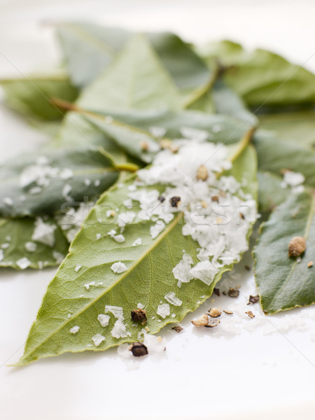 Bay Leaves With Sea Salt Stock photo © monkey_business