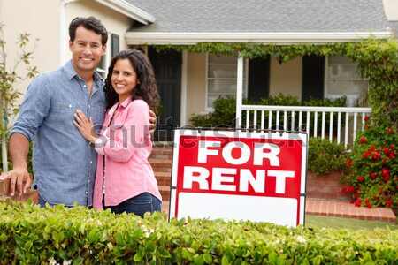 Senior Hispanic couple selling house Stock photo © monkey_business