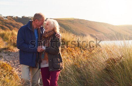 Young couple on country walk Stock photo © monkey_business