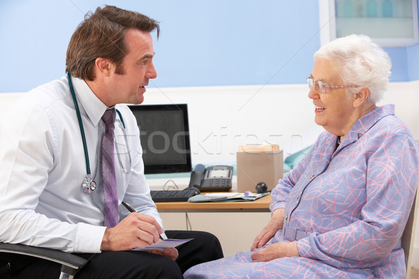 UK GP talking to senior woman patient Stock photo © monkey_business