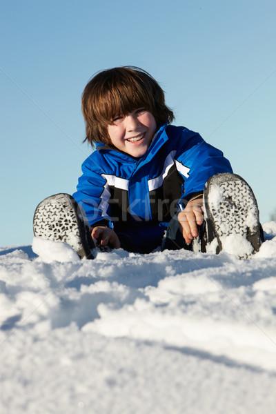 играет снега праздник гор счастливым Сток-фото © monkey_business