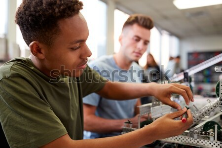Group Of Students Working At Computers In Classroom Stock photo © monkey_business