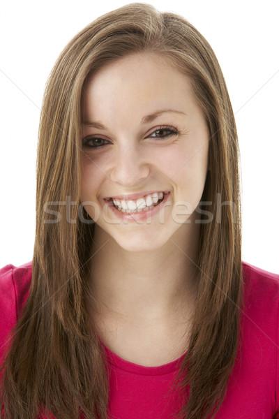 Сток-фото: студию · портрет · улыбаясь · счастливым · цвета
