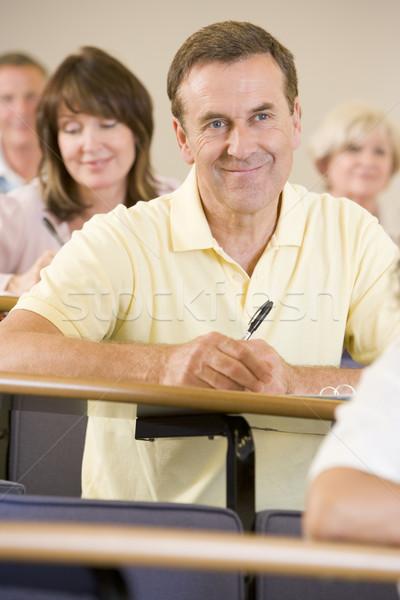 мужчины взрослый студент прослушивании университета лекция Сток-фото © monkey_business
