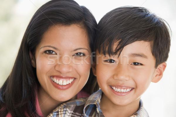 женщину улыбающаяся женщина улыбаясь детей любви Сток-фото © monkey_business