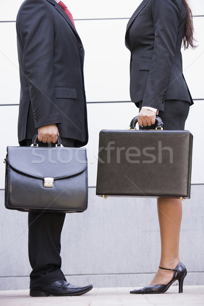 Cropped image of business meeting outside office Stock photo © monkey_business