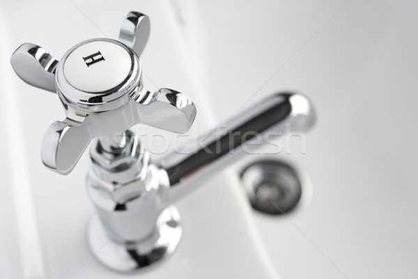 горячей водопроводной стороны ванную раковина горизонтальный Сток-фото © monkey_business