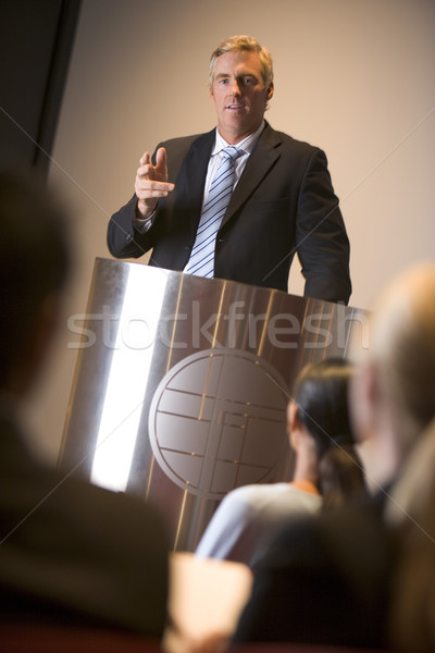 Businessman giving presentation at podium Stock photo © monkey_business