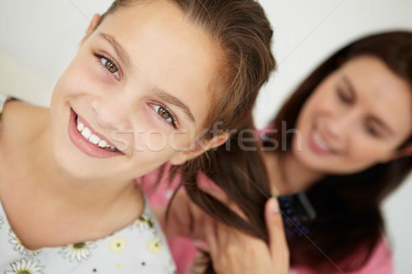 матери волос женщину семьи улыбаясь жизни Сток-фото © monkey_business