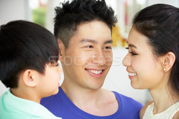 Głowie plecy portret chińczyk rodziny wraz Zdjęcia stock © monkey_business