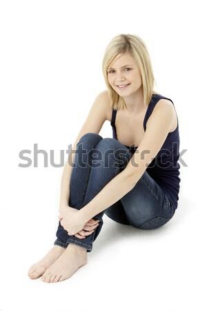 Teenage Girl Sitting In Studio Stock photo © monkey_business