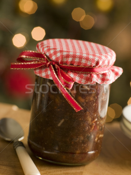 Jar of Mincemeat Stock photo © monkey_business