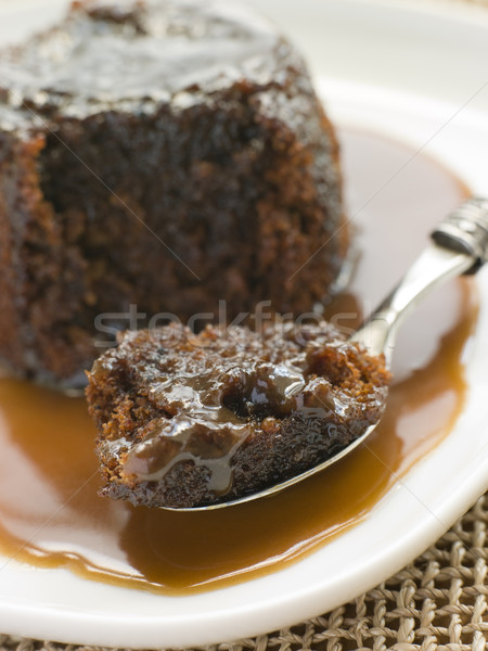 Sticky Toffee Pudding with Toffee Sauce Stock photo © monkey_business