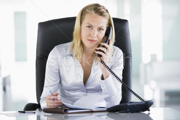 üzletasszony iroda személyes szervező nyitva üzlet Stock fotó © monkey_business