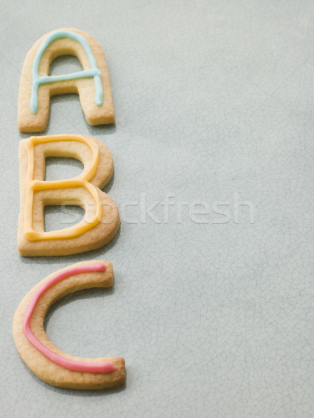 ABC Shortbread Biscuits Stock photo © monkey_business