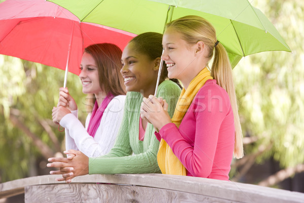 Portré csoport tinilányok barátok lányok tinédzserek Stock fotó © monkey_business