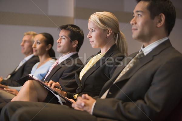 Vijf vergadering presentatie kamer man Stockfoto © monkey_business