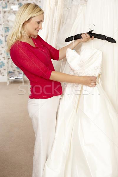 Menyasszony választ esküvői ruha nő divat portré Stock fotó © monkey_business