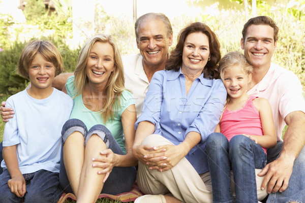Extended Group Portrait Of Family In Garden Stock photo © monkey_business