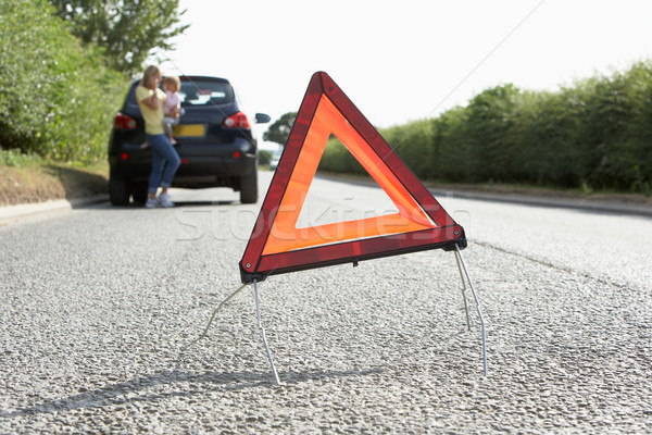 Mother And Daughter Broken Down On Country Road With Hazard Warn Stock photo © monkey_business