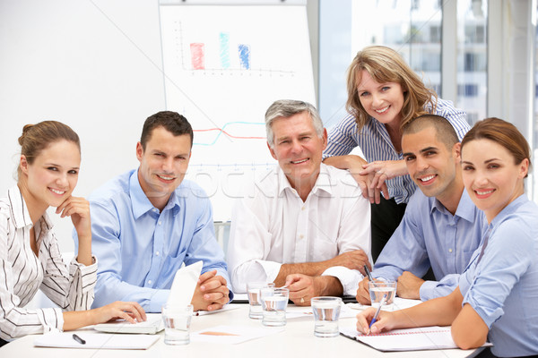 Colleagues in business meeting Foto stock © monkey_business