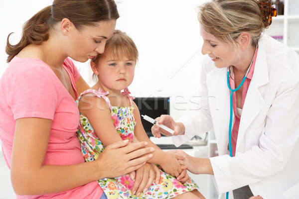 Female doctor injecting child Stock photo © monkey_business